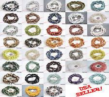 "4-10mm GEMSTONE Chip Beads Loose 35"" Strand BirthStone -Necklace Bracelet Making"