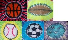 Handmade Tie Dye ADULT shirt SPORTS BALLS - u pick ball & colors!