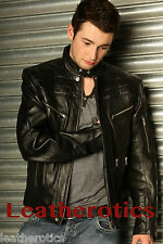 MENS LEATHER JACKET MEDIUM GENTS TRENDY 38 40 42 44 46