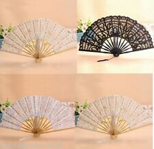 Battenburg Wedding Bridal Lace Hand fan  Dancing Fan LS