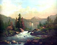 3836 Landscape Vintage POSTER.Powerful Graphic Design. Waterfall Art Decorative