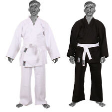 TurnerMAX Judo Karate Suits Martial Arts Fitter Kick Boxing White & Black Colors