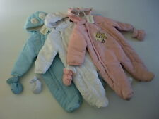 BNWT BABY'S PADDED ALL-IN-ONE WINTER SNOWSUIT / PRAMSUIT 0-3/3-6/6-9MONTHS