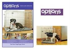 Rosewood OPTIONS Fold Flat Wire Dog / Puppy Cage Crate - Small Medium Large XL