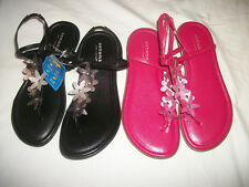 * NWT NEW GIRLS SONOMA FLOWERS SANDALS SHOES 13 1 2 YOUTH