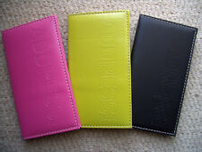 A7 Vibrant Embossed Mini Pocket Slim Size Address Book  Pink Green & Black!