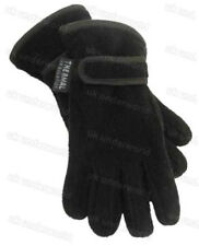 GIRLS BOYS BLACK NAVY THINSULATE LINED FLEECE GLOVES AGES 6-7-8-9-10-11-12-13