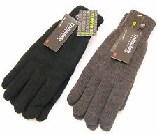 Mens Thinsulate Thermal Knitted Winter Gloves  Black or Grey sizes M/L L/XL