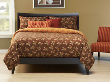 Birds with Blooms Brown and Orange SIS Bed in a Bag Set Choose Size!!!