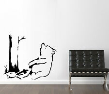 Banksy Winnie The Pooh bear stencil reusable art craft painting airbrush decor