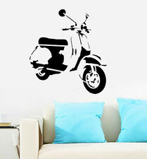 Iconic Retro Vespa Scooter Moped Reusable Mylar art Stencil