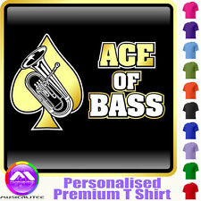 Euphonium Ace Of Bass - Personalised Music T Shirt 5yrs - 6XL by MusicaliTee