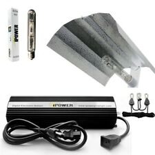 iPower 400W 400 Watt HPS MH Grow Light Kit Air Cool Tube Wing Reflector Hood Set