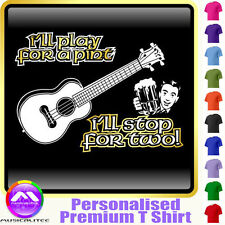 Ukulele Play For A Pint - Personalised Music T Shirt 5yrs-6XL MusicaliTee 2