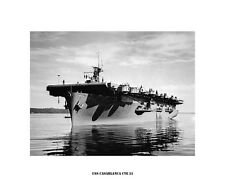 USS CASABLANCA CVE 55  Naval Ship Photo Print, USN Navy