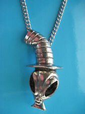 ALIEN with TOP HAT - necklace, pendant
