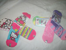 * NWT NEW GIRLS 4PC HELLO KITTY SOCKS LOT 5-6.5 6-8.5