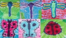 Handmade Tie Dye LADIES shirt BUTTERFLY DRAGONFLY LADYBUG
