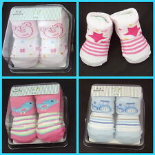 New Baby Boy Girl Socks 0-6 month Cotton rich in box IDEAL GIFT pink blue star