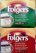 Folgers Coffee Instant Single Servings ( 19 Bags ) Classic Roast ~ Pick One