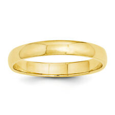 Sale 10K Solid Yellow Gold 3mm Plain Unisex Wedding Band Ring Gift Box Size 4-12