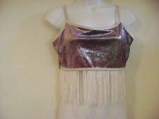 SPARKLING IRRADESCENT PURPLE DANCE TOP~COSTUME~Womens Sm~Med~Lg~XLg~HALLOWEEN
