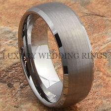 Men's Tungsten Ring Infinity Wedding Band Titanium Color Hot Jewelry Size 6-13
