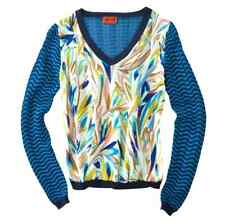 NEW! Missoni for Target Chiffon Sweater Blouse Blue Floral Mixed Media