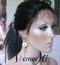 Cheap Full Lace Wig-Yaki Straight Real Indian Remy Human Hair -Popular @@@@@