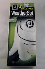 2 Pack of FootJoy WeatherSof Golf Gloves. Brand New Men's. Choose your size