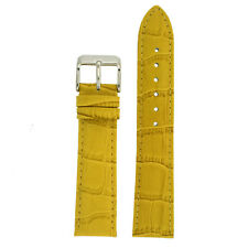 Watch Band Yellow Genuine Leather Alligator Grain TSA235