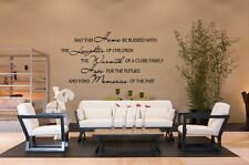 MAY THIS HOME BE BLESSED Vinyl Decal Wall Art Sticker Word & Phrases