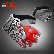2015 New Style Cool outdoor cycling bike bicycle Sports Half FInger Glove Red
