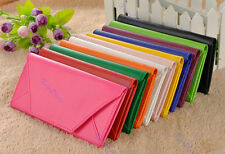 New Women Envelope Purse Clutch PU Leather Pocket Wallet Lady Hand Bag 9 Colors