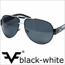 Designer Mens Aviator Sunglasses Modern Classic Black White Pilot Eyewear UV400