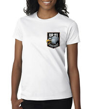 POW MIA American Eagle Crest US Military Ladies Tee Shirt