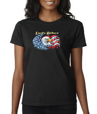 Lady Biker American Eagle USA Choppers Ladies Tee Shirt