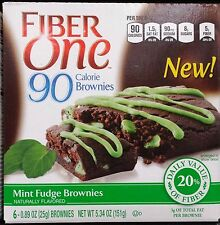 Fiber One 90 Calorie Chewy Chocolate Brownies Granola Cereal Bars ~ One Box