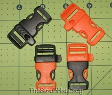 "5/8"" emergency whistle buckle side release for survival paracord bracelets"