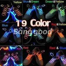 Muti-color Cool LED Flash Lighting Glow Shoelaces Shoe Laces DISCO Party Skating