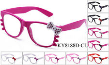 Hello Kitty Clear Lens Glasses RHINESTONES UV400 Protection 6 Colors KT01 multi