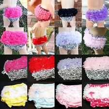 Infant Baby Girl Cotton Bloomer Pantie Brief Pant Ruffles For Pettiskirt 6m-3Y