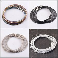 Wholesale Magnetic/Screw Wire Cable Steel Chains Stainless Charms Cords Findings