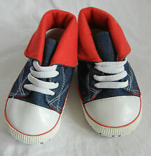 blue JEAN high top leisure boy shoes toddler shoes baby boy shoes UK size2,3,4