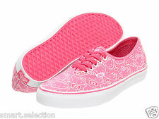 Vans Authentic Hello Kitty Hot Pink True White Skate Boys Girls Kids Youth Shoes