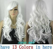 Fashion (13 colors) COSPLAY Costume Party Long Wavy Wig wigs 70cm wig + hairnet