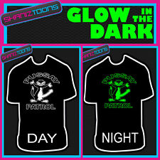 PUSSAY PATROL STAG PARTY LADS HOLIDAY FUNNY GLOW IN THE DARK PRINTED TSHIRT