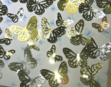 Gold or Silver decorative butterflies.Wedding confetti, Cardmaking  Pack of 50.