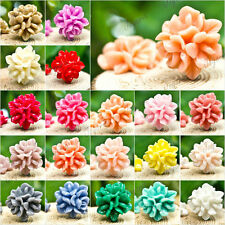Cheap 15X15MM Assorted Resin Flowers Cabochons Flatback Wholesale Vintage Style