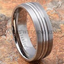 Titanium Mens Ring Matte Dome Wedding Band Womens Bridal Jewelry Love Size 6-13
